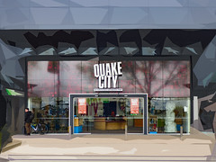 Quake City (Steve Taylor (Photography)) Tags: art architecture digital tribute museum eerie weird crazy mad odd strange man newzealand nz southisland canterbury christchurch cbd city cycle bicycle bike earthquake quake quakecity