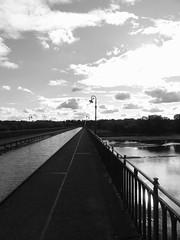 Le pont-canal de Briare (Hlne_D) Tags: bridge blackandwhite bw france river noiretblanc centre rivire nb aqueduct pont aviary loire aqueduc fleuve briare loiret centrevaldeloire pontcanal pontcanaldebriare briarelecanal canallatrallaloire hlned briareaqueduct canalbridgeatbriare
