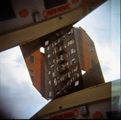 [La Mia Citt] Officina Bobo in Via Palmanova nella Stazione Esso (Urca) Tags: 120 6x6 mediumformat holga lomo italia doubleexposure milano squareformat esso multi doppiaesposizione 2016 analogico viapalmanova holgalomo100720165 officinabobo