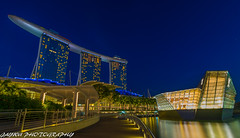 marina bay sands nightscape (jaywu429) Tags: travel sky beautiful beauty skyline night buildings landscape singapore asia nightscape nightshot sony tokina bluehour sonycamera lv singaporeriver marinabaysandshotel tokina1628mm sonya7r