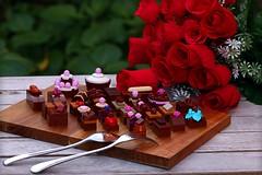 Chocolate (Frost Bricks) Tags: lego chocolate moc dessert tasting plate