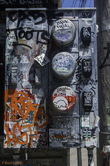 Tagged Utility Meters (Greatest Paka Photography) Tags: graffiti tagger tagged meter utilitymeter vandalism competition paint missiondistrict sanfrancisco