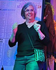 Karaoke at Cat's Meow. (Flagman00) Tags: karaoke catsmeow neworleans frenchquarter  milf gilf hotchicks hot pretty sexy women grandma mom singing stage nightlife dancing granny drunk horny