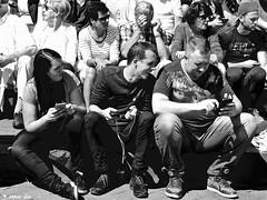 THE POKEMON HUNT... (Akbar Simonse) Tags: dscn3385 denhaag thehague agga haag lahaye sgravenhage kijkduin holland netherlands nederland people candid streetphotography straatfotografie urban stad pokemon smartphone mobieltje zwartwit bw blancoynegro bn monochrome pokemonhunters pokemoncity