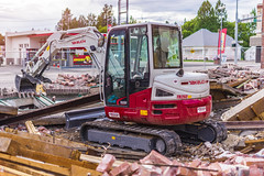 _DSC3848 (Simply Angle) Tags: wood city tractor building brick demolish outdoors town washington sony equipment business damage torn resturant damaged demolished a7 takeuchi a7ii chewelahwa sonyphotographing sonyphotography tb260 sonya7ii ilce7m2 sel50f18f demaging