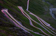 Descent (JN) Tags: sony rx10iii rx10m3 italy stelvio pass night road hairpin mountain sharp turns light trails alps summer