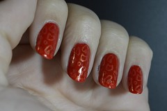 ESMALTAO DAS CORUJAS - ANIMAL PRINT (Bah Teles) Tags: elke colorama dermanail laranja vermelho red orange apipila carimbada