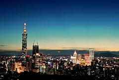 Taipei Blue In Green (2016) (bluetrayne) Tags: nightphotography longexposure analogphotography taiwan taipei nightscene night citylights cityscape skyline skyscraper building architecture colorful   101 taipei101 urban urbanlandscape landscape landscapephotography