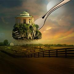 Expropriation (jaci XIII) Tags: casa pavilho arquitetura fantasia surrealismo campo garfo cerca house pavilion fantasy architecture surrealism fork field about