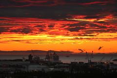 Icelandic Summer Night: The Cruiser (ragnaolof) Tags: iceland summer night sun sunset reykjavk harbor sea cityscape snfellsjkullglacier glacier clouds sky nature landscape