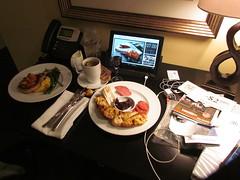 Room Service in My Suite at the Mayton Inn -- Cary, NC, July 3, 2016 (baseballoogie) Tags: maytoninn nc northcarolina hotel room hotelroom 070316 baseball16 canonpowershotsx30is cary