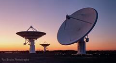 Three KAT Sevens (Panorama Paul) Tags: paulbruinsphotography wwwpaulbruinscoza southafrica greatkaroo ska squarekilometrearray carnarvon radiotelescope kat7 meerkat sunset nikond800 nikkorlenses nikfilters panorama