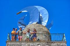 Xuntanza 2016 en Cambados 0166 (Pepe Fernndez) Tags: farodasluas montedasandras treslunas mirador escultura amigos grupo fotodegrupo