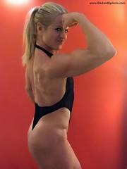 Madam Mysteria (Madam Mysteria) Tags: posing flexing biceps muscle worship mysteria