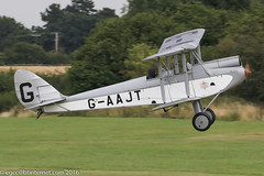 G-AAJT - 1930 build de Havilland DH.60G Gipsy Moth, departing from Runway 21 at Old Warden during the 2016 Gathering of Moths (egcc) Tags: 1084 2016gatheringofmoths biplane dh60g dehavilland egth gaajt gatheringofmoths gipsy gipsymoth lightroom nc947m oldwarden paul shuttleworth