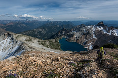 _DSC1629 copy (Gabi Hiking) Tags: daniel cascades hiking scrambling backpacking washington i90 salmonlasac peggy pond mountains clouds peak ridge