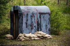 Sand bagged shelter (technodean2000) Tags: sand bagged bag shelter tin nikon d610 lightroom uk