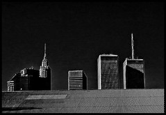 This Is What I Remember...And I'll Never Forget (raymondclarkeimages) Tags: rci raymondclarkeimages 8one8studios usa sony mono blackandwhite cybershot twintowers skyline monochrome ny newyork worldtradecenter disaster 911 september11 septembereleventh buildings architecture tallbuildings attacks blackborder history towers heros fd nyfd