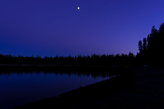 Twin Lakes (D-Adams) Tags: bend oregon nikon d5300 sunset purple sky blue lake lakes twin trees silhouette night dark moon exposure time reflection water pond wilderness landscape outdoors outdoor mountains wild scenic scenery twilight dusk