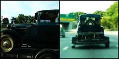 DRIVE BY SHOOTING WHILE IN TRAFFIC (Visual Images1) Tags: truck happytruckthursday diptych two