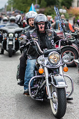 Jack Daniels (Geoff France) Tags: harley harleydavidson rideout chapter dunedin dunedinhog dunedinchapter bike biker motorbike thunder thunderintheglen grantown aviemore helmet wheel