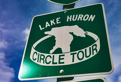 Lake Huron Circle Tour (Tony Webster) Tags: ashmunstreet circletour lakehuron lakehuroncircletour michigan saultstemarie upperpeninsula sign unitedstates us