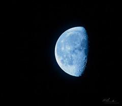 Morning Moon (ChellePullen) Tags: night moon space sky bluemoon