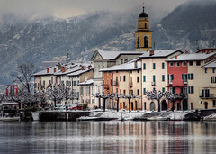 My home village during winter... (Alex Switzerland) Tags: lugano luganese ticino ceresio switzerland snow winter neve inverno landscape colors canon eos 6d