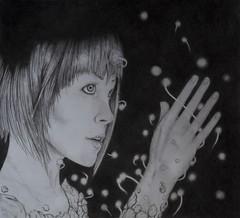Luces esenciales (isma.jdc) Tags: dibujo arte grafito art lpiz mujer