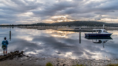 Cloudy sunrise and reflections on the bay (Merrillie) Tags: daybreak woywoy sunrise nature australia reflections nswcentralcoast newsouthwales clouds nsw centralcoastnsw mountains water landscape outdoors waterscape blackwall centralcoast dawn mountain