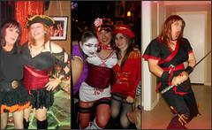 Collage13 (MaryAnn Ginger) Tags: halloween costume cosplay cd crossdress crossplay tranny tgirl tran sexy