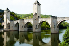 Cahors (Voyages Lambert) Tags: tourism cahors arch history architecture vacations tourist france europe naturalarch river bridgemanmadestructure fort tower city town valentrebridge