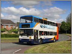 16699, Shackleton Drive (Jason 87030) Tags: 16699 stagecoach northampton daventry ashbyfields shackletondrive oly doubledecker dav sunny summer may 2016 canon northants northamptonshire