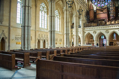 Arundel - Roman Catholic Cathedral Nave From North Aisle (Le Monde1) Tags: arundel howard dukeofnorfolk lemonde1 nikon d610 town castle cathedral romancatholic market westsussex england county uk southdowns riverarun frenchgothic architect josephaloysiushansom nave organ loft
