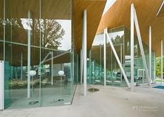 Exterior of Okayama University, Junko Fukutake Hall (岡山大学 Junko Fukutake Hall) (christinayan01) Tags: architecture building perspective hall japan sanaa sejima kazuyo nishizawa ryue roof