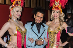 Samantha Sitzman, Ashlin Parker, and Trixie Minx at Irvin Mayfield's 37th Birthday Party, New Orleans Jazz Market, Sunday, December 21, 2014