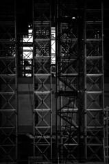 Railway Station 7 B&W (Majkelu) Tags: new bw white black building work canon lens site nikon zoom tele katowice silesia