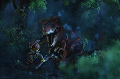The ultimate Predator (Shobrick) Tags: park island lego jungle hunter jurassic trex shobrick
