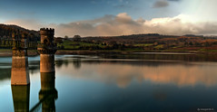 Wentwood Reservoir (Margarita K...) Tags: blue sky cloud reflection water southwales clouds reflections landscape nikon long exposure cloudy ngc reservoir slowshutter waterscape wentwood d5200 waterenvirons margaritakphotography