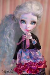 OOAK Spectra (willka_ann) Tags: wool alpaca doll dolls ooak spectra custom mh reroot faceup repeint monsterhigh