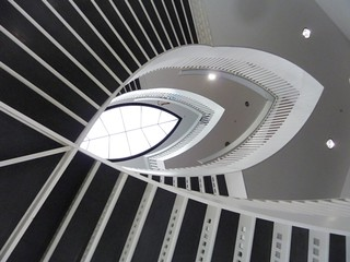Chicago, Museum of Contemportary Art, Staircase Abstract