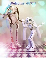 Drossel's New Years' Eve Ball (Sasha's Lab) Tags: new party girl ball toy happy robot dance aperture action year von figure aviary portal gsc cyborg android juno gynoid  flgel drossel jfigure pbody goodsmile 48715 goodsmilecompany frstin figma vierzehntes heizregister