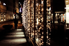 It's beginning to look a lot like Christmas ( rachelloooow) Tags: christmas street silhouette night festive lights quiet time decoration walkway