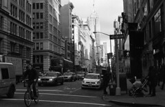 NYC (sglassphoto) Tags: nyc blackandwhite flores slr film glass sarah 35mm photography 50mm nikon streetphotography mm 50 fg bwfilm nikonfg shootfilm bwstreet sglassphoto