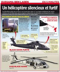Oussama Ben Laden : Un hélicoptère silencieux et furtif (stahlmandesign) Tags: design montréal graphic journal québec blackhawk infographie infographic hélicoptère débris benladen 5minutes oussama furtif