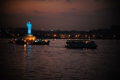 #002 Buddha Purnima , Tank Bund - 08 (Rajesh_India) Tags: sunset india evening hyderabad tankbund hussainsagarlake