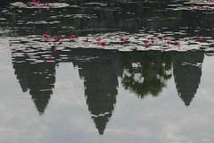 2003.12.27 KLEIJSSEN ANGKOR WAT IMG_5185_Watermarked (Eric JF Kleijssen) Tags: reflection water temple pond cambodia khmer angkorwat angkor wat waterreflection waterreflections