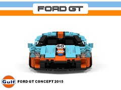 Ford GT Concept Racer - 2015 Gulf Racing (lego911) Tags: auto show orange ford car model gulf lego render detroit cyan racing turbo motor gt carbon custom coupe supercar cad sportscar naias v6 moc ldd 2015 miniland midengine ecoboost gtdi lego911 povraystripe