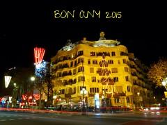 Bon Any 2015 desde Barcelona (bertanuri bcn) Tags: barcelona new leica bon portrait house cat happy lumix casa year mila bcn any catalonia panasonic gaudi guell lanscape desde pedrera 2014 catalogne 2015 explored bertanuri fz45 bertanuribcn