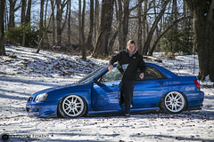 Pat's WRX (Erik Breihof Photography) Tags: blue snow cars car work photography photographer shot garage air wheels nation automotive fresh clean subaru erik rollers flush society offensive wrx rolling jdm hella stance subie dumped proper bagged fitment prpl fatlace subielove stanced airsociety breihof subarunation